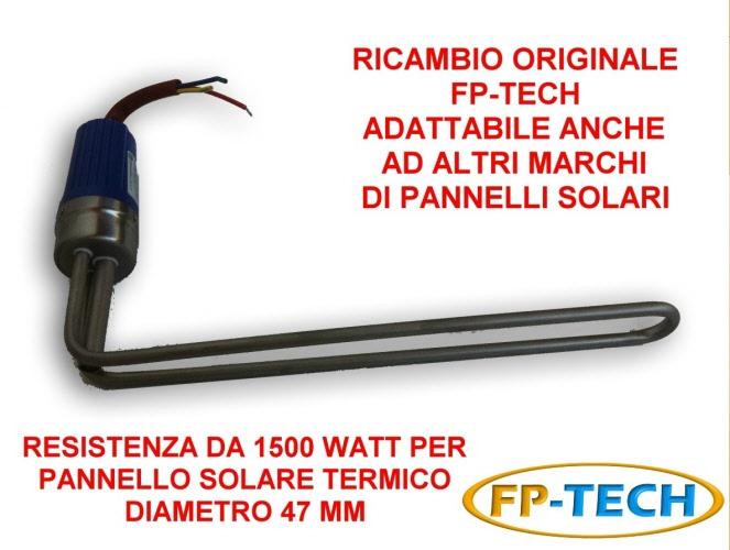 Pannello Solare Termico Watt : Resistenza watt per pannello solare termico acqua