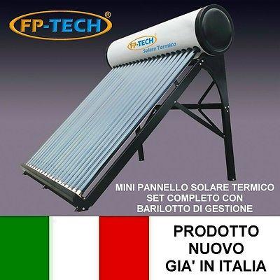 PANNELLO SOLARE TERMICO ACQUA CALDA ACCIAIO INOX 90 LT TUBI SOTTOVUOTO U2013  BASE