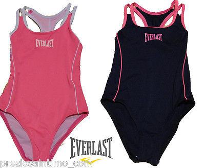 Everlast costume intero bambina mare piscina blu rosa for Decathlon costumi piscina bambina