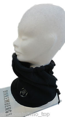 Bikkembergs Scaldacollo CAppello Berretta hat cap mens sciarpa blu lana e  pile 0a4a9211fde2