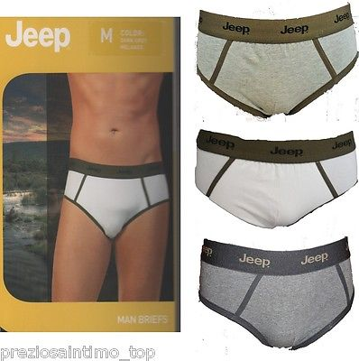 c813fa6ab1 Slip Uomo Jeep Intimo Brief UnderweAR Mens Intimate homme cotone ...