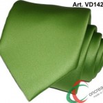 Cravatta o Cravattino Made In Italy Alta Qualità in Raso Poli Con Pochette Vd1426 Verde