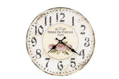 Stampe Per Cucina Country : Orologio da parete muro shabby chic rose country casa cucina stampa