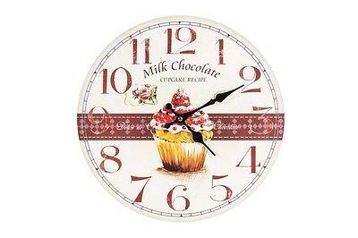Stampe Per Cucina Country : Orologio da parete muro shabby chic dolci country casa cucina stampa