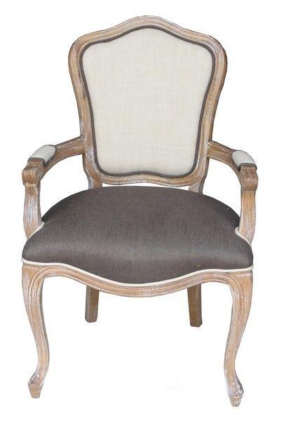 Poltrona poltroncina barocco legno pelle vintage sedia per camera da letto