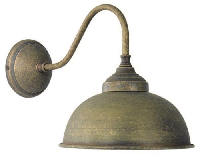 Lampada Vintage Da Parete : Applique da muro 1 luce oslo ottone brunito vintage lampada parete