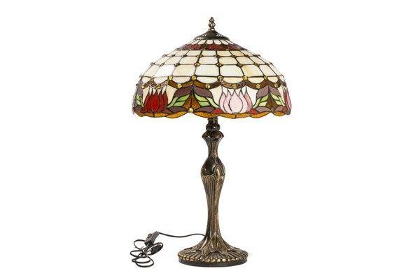 Lampada Fiore Tulipano : Lampada tiffany liberty fiori tulipani vetro ottone vintage tavolo