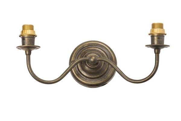 Applique da muro luci ottone brunito vintage lampada parete