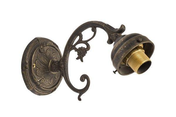 Lampada Vintage Da Parete : Applique da muro 1 luce ottone brunito fiore vintage lampada parete