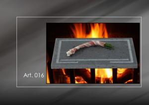 Bistiecchiera in pietra lavica dell' Etna Mod 016 Large